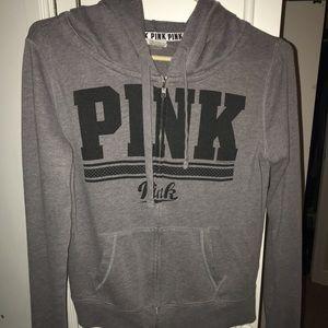 Dark Grey VS PINK Zip Up